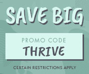 Save with promo code THRIVEPRE
